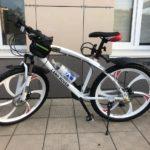 Велосипед не складной 6 лепестков белый