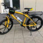 Велосипед не складной 6 лепестков желтый