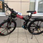 Велосипед складной 10 лепестков черно-красный