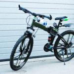 Велосипед складной 10 лепестков черно-зеленый