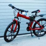 Велосипед складной 10 лепестков красный