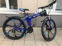 Велосипед складной 6 лепестков синий