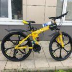 Велосипед складной 6 лепестков желтый