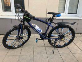Велосипед не складной 10 лепестков синий