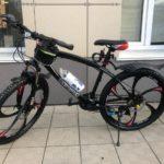 Велосипед не складной 6 лепестков черный