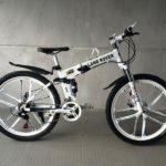 Велосипед складной 10 лепестков белый