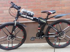 Велосипед складной 10 лепестков черный