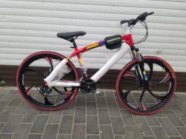 Велосипед не складной 6 лепестков красный