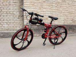 Велосипед складной 6 лепестков красный