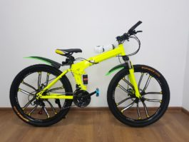 Велосипед складной 10 лепестков желтый