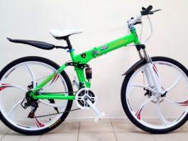 Велосипед складной 6 лепестков салатовый