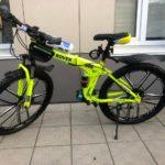Велосипед складной 10 лепестков салатовый