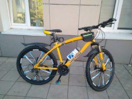 Велосипед не складной 10 лепестков желтый