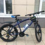 Велосипед не складной 6 лепестков синий